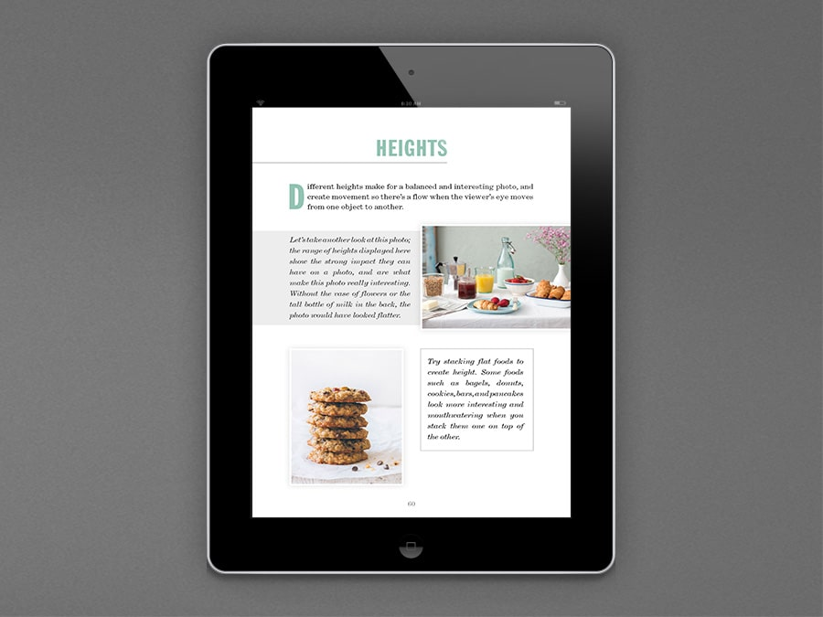 Food Photography Book | eBook Layout Design | Iskon Design